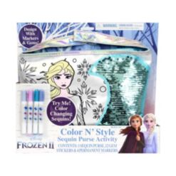 Frozen 2 Color N Style Purse with Gem Stickers and Permanent Markers