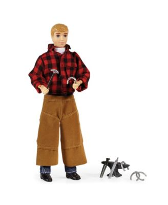 """Breyer Traditional Farrier with Blacksmith Tools - 8"""" Toy Figure"""