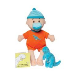 "Manhattan Toy Company Wee Baby Stella Tiny Dino 12"" Soft Toy Baby Doll Set"