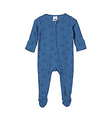 Baby Boys Organic Newborn Zip Through Romper