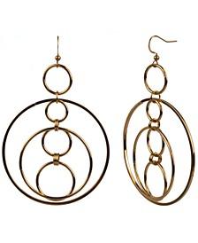 Gold-Tone Multi-Hoop Drop Earrings, Created for Macy's