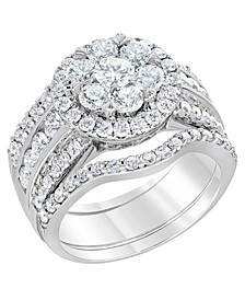 Diamond Cluster Bridal Set (2 3/4 ct. t.w.) in 14k White Gold