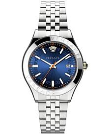 Men's Swiss Hellenyium Stainless Steel Bracelet Watch 42mm