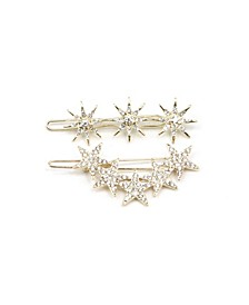 Cosmic Rays Crystal Barrette and Stardust Crystal Barrette, Set of 2
