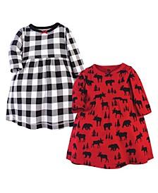 Toddler Girl Cotton Dresses, Pack of 2