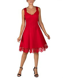 Crochet-Hem Dress