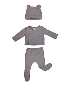 Baby Boys and Girls Organic Cotton French Terry 3 Piece New Born Gift Set