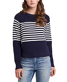 Cotton Micah Blocked-Stripe Sweater, Created for Macy's