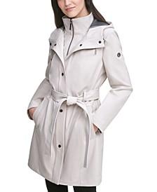 Belted Hooded Raincoat