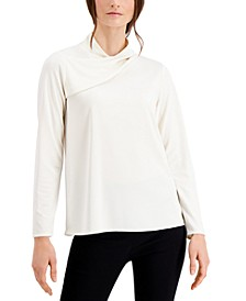 Asymmetrical-Neck Top, Created for Macy's