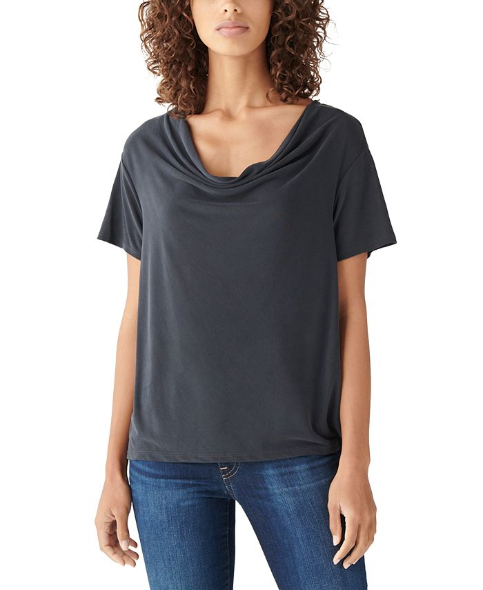 Lucky Brand - Sandwashed Cowlneck Top