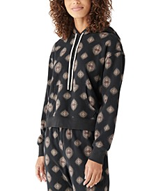 Cotton Printed Sueded Hoodie
