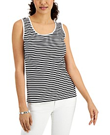 Striped Cotton Tank Top, Created for Macy's