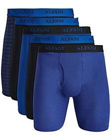 Men's 5-Pack Longer-Length Boxers, Created for Macy's