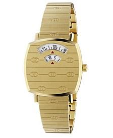 Women's Swiss Grip Gold PVD Stainless Steel Bracelet Watch 27mm