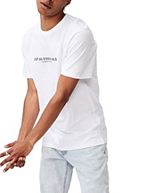 Men's Graphic Text T-shirt