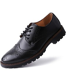 Men's Spotted Thread Oxford Dress Shoes