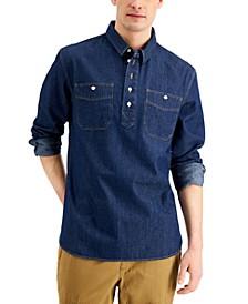 Men's Long-Sleeve Brayden Denim Shirt, Created for Macy's