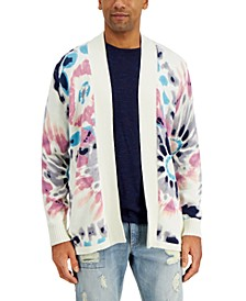 Men's Tie-Dye Cardigan Sweater, Created for Macy's