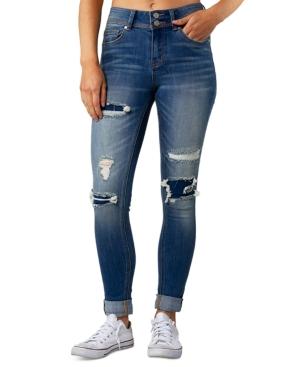 Juniors' Rip & Repair Cuffed Jeans