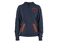 5th and Ocean Chicago Bears Women's Team Quarter Zip Pullover