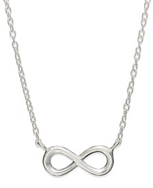Mini Infinity Pendant Necklace in Sterling Silver