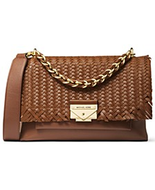 Cece Medium Leather Ribbon Chain Shoulder