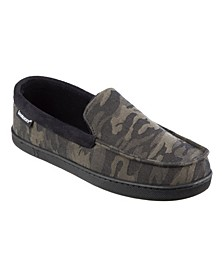 Men's Twill Camo Moccasin Slippers