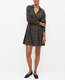 Women's Pleat Printed Dress