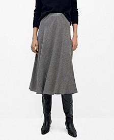 Women's Textured Printed Skirt
