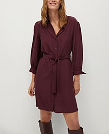 Women's Belt Shirt Dress
