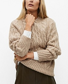 Women's Cable-Knitted Sweater