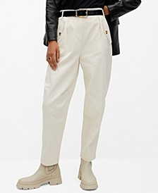 Women's Slouchy Cotton Trousers
