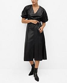 Women's Puffed Sleeves Dress