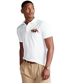 Men's Custom Slim Fit Triple-Pony Polo Shirt