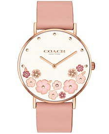 Women's Perry Blush Leather Strap Watch 36mm