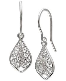 Filigree Drop Earrings in Sterling Silver, Created for Macy's