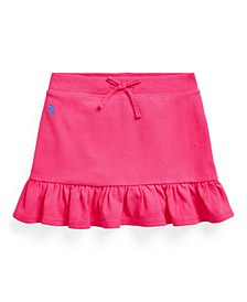 Toddler Girls Ruffled Stretch Mesh Skort