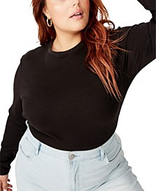 Trendy Plus Size The Turn Back Long Sleeve Top