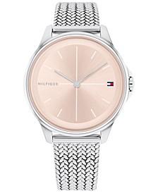 Women's Stainless Steel Mesh Bracelet Watch 35mm