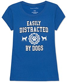 Juniors' Dogs Graphic T-Shirt