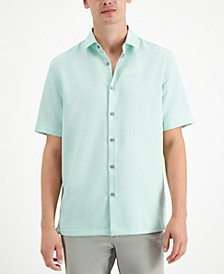 Men's Solid Short Sleeve Shirt, Created for Macy's
