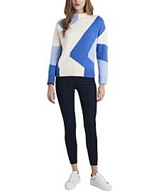 Women's Intarsia Mock Neck Sweater
