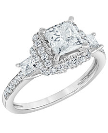 Diamond Engagement Ring (1 3/4 ct. t.w.) in 14K White Gold