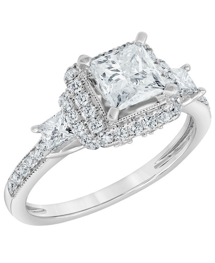 Macy's - Diamond Engagement Ring (1 3/4 ct. t.w.) in 14K White Gold