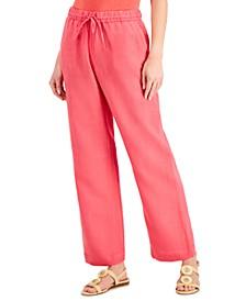 Linen Drawstring-Waist Pants, Created for Macy's