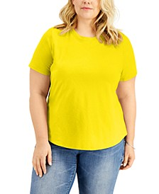 INC Plus Size Cotton Short-Sleeve T-Shirt, Created for Macy's