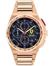 Men's Chronograph Aspire Rose Gold-Tone Bracelet Watch 44mm