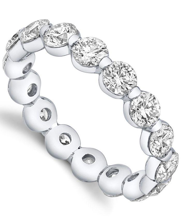 Sirena - Diamond Round Eternity Band 3 1/4 ct. t.w. 14k White or Yellow Gold