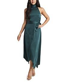 Women's Mock Halter Neck Sleeveless Dress